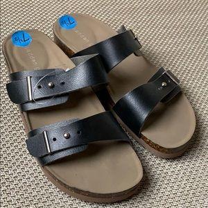 Steve Madden Brando sandals black sz 7.5